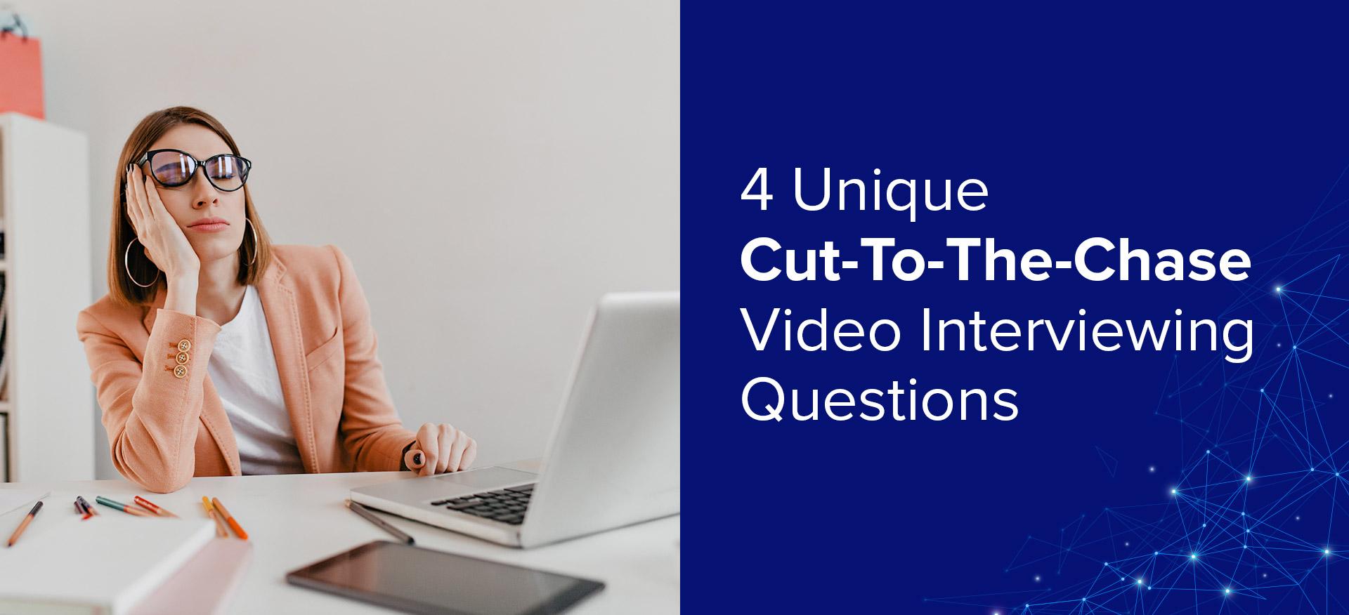 recruiter using video interviewing software