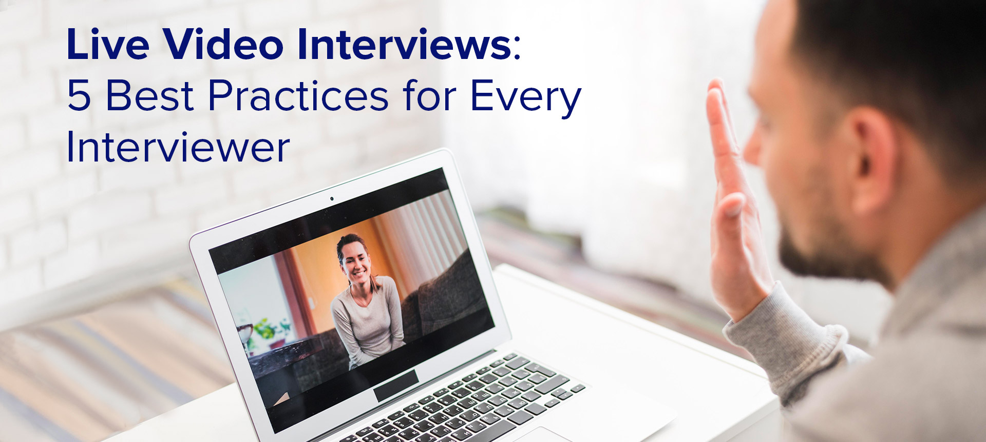 candidate conducting a video interviewing process