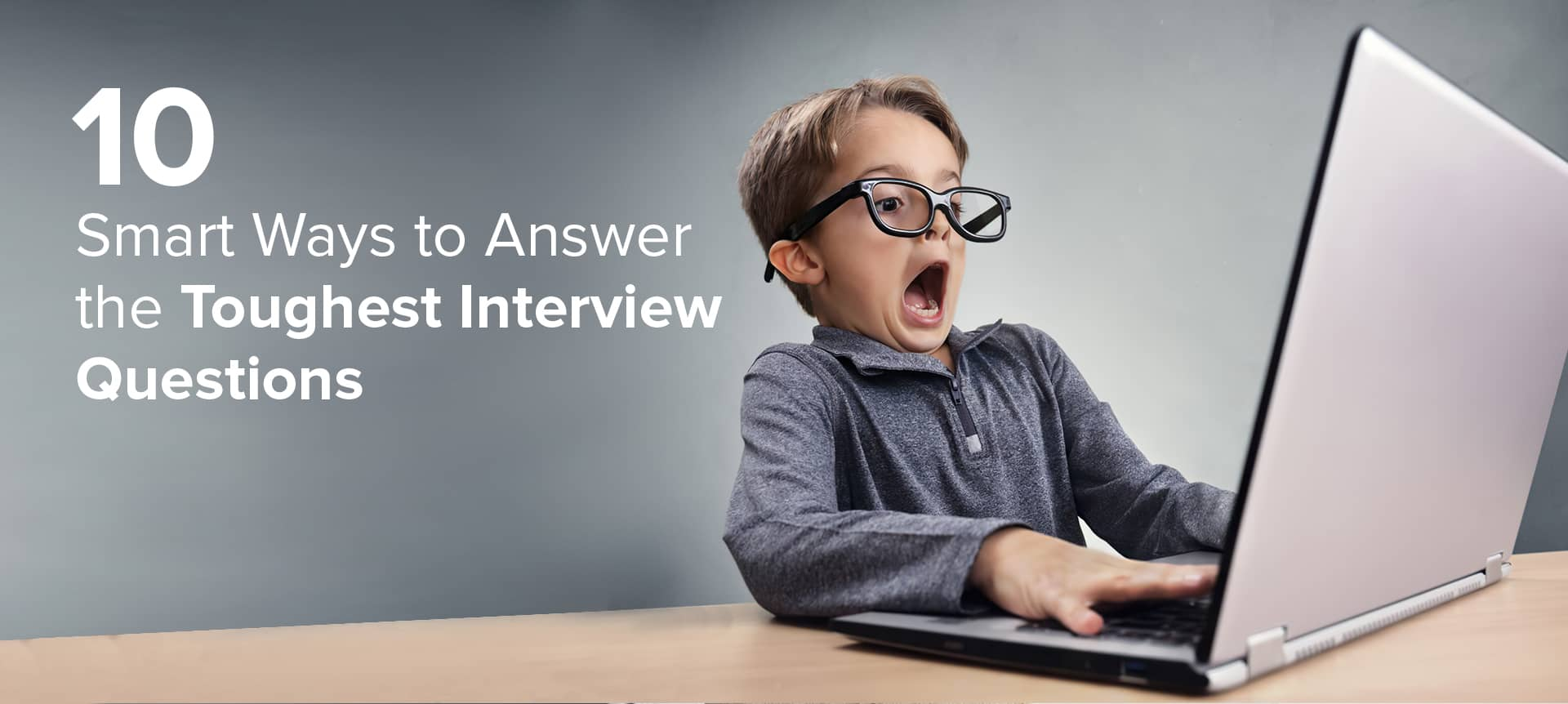 A young kid answering tough video interviewing questions