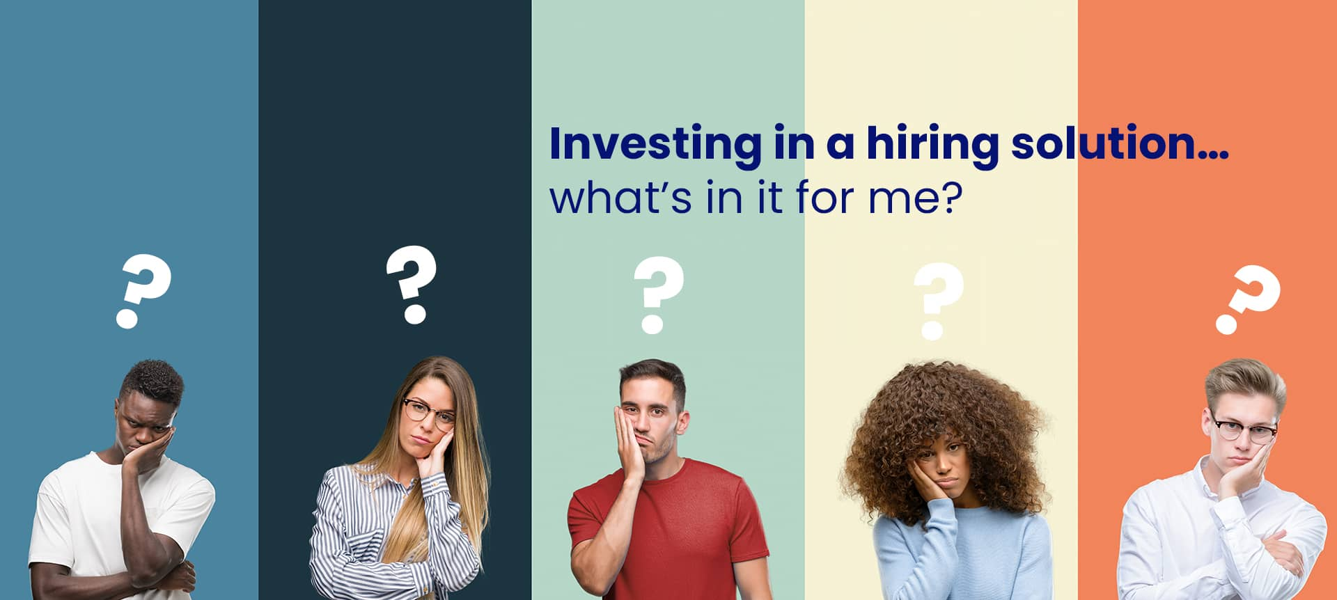 A group of recruiters thinking of investing in a hiring solution