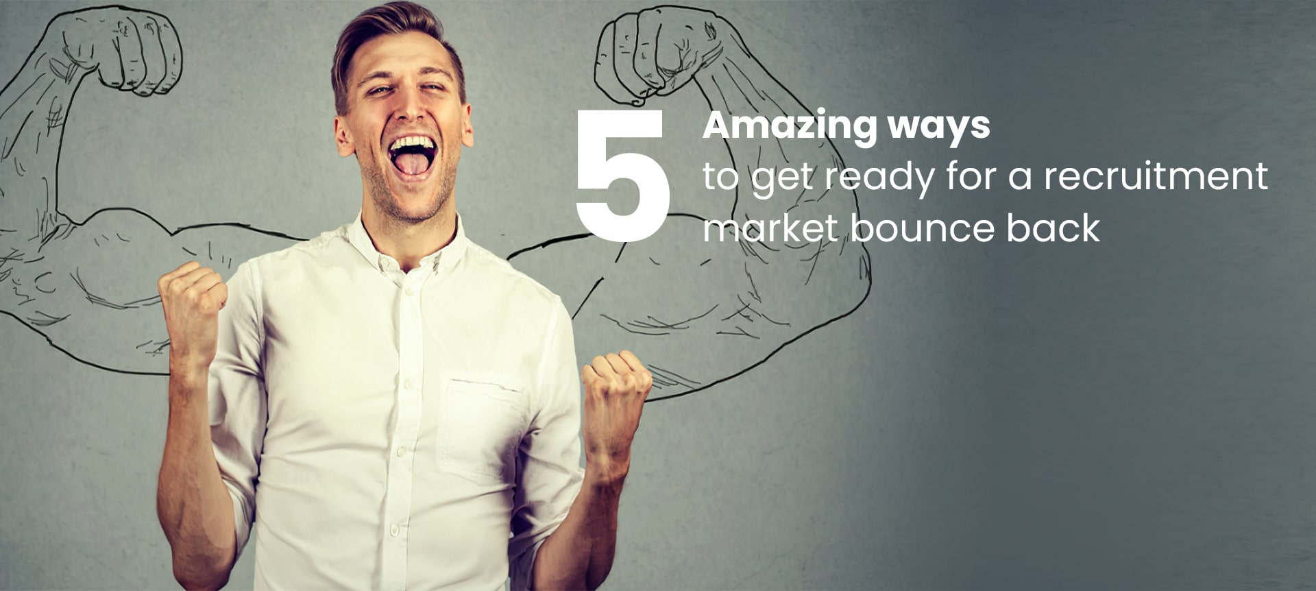 A hiring manager looking excited for a remote recruitment market bounce-back