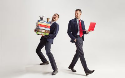 Two HR recruiters wearing professional suits