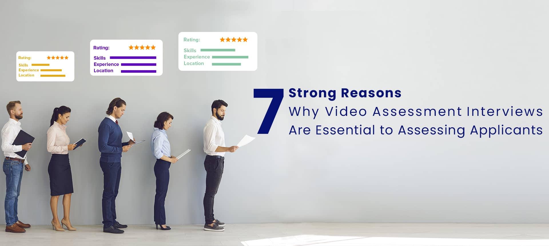 applicants conducting video assessment interviews