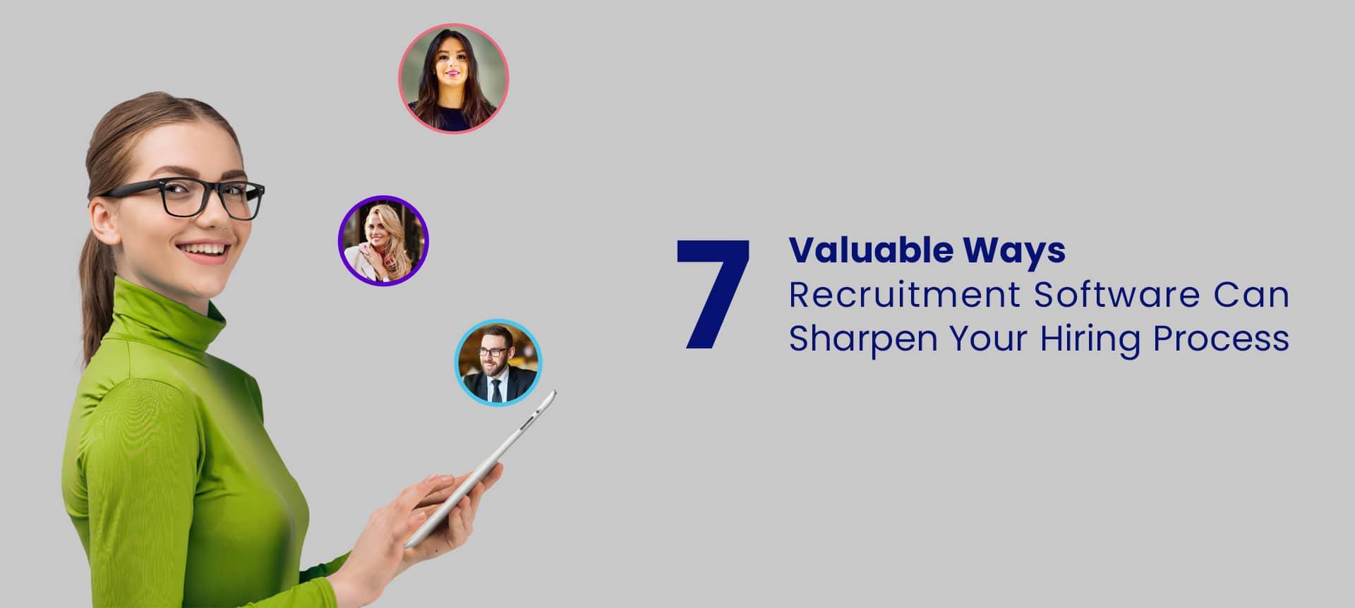 A female recruiter using recruitment software