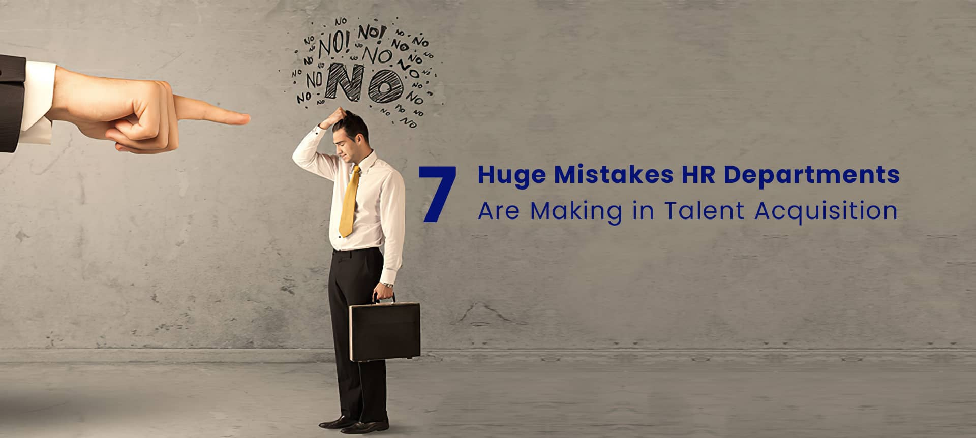 A male recruiter making a mistake in talent acquisition