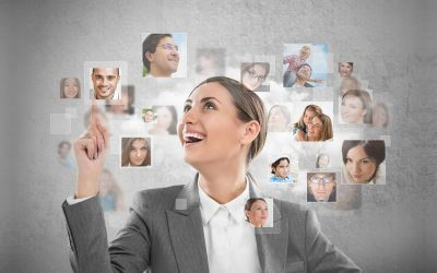 A female recruiter using an applicant tracking system to beat the talent shortage