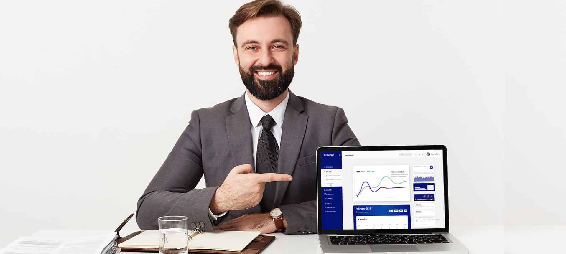 male recruiter using a hiring platform