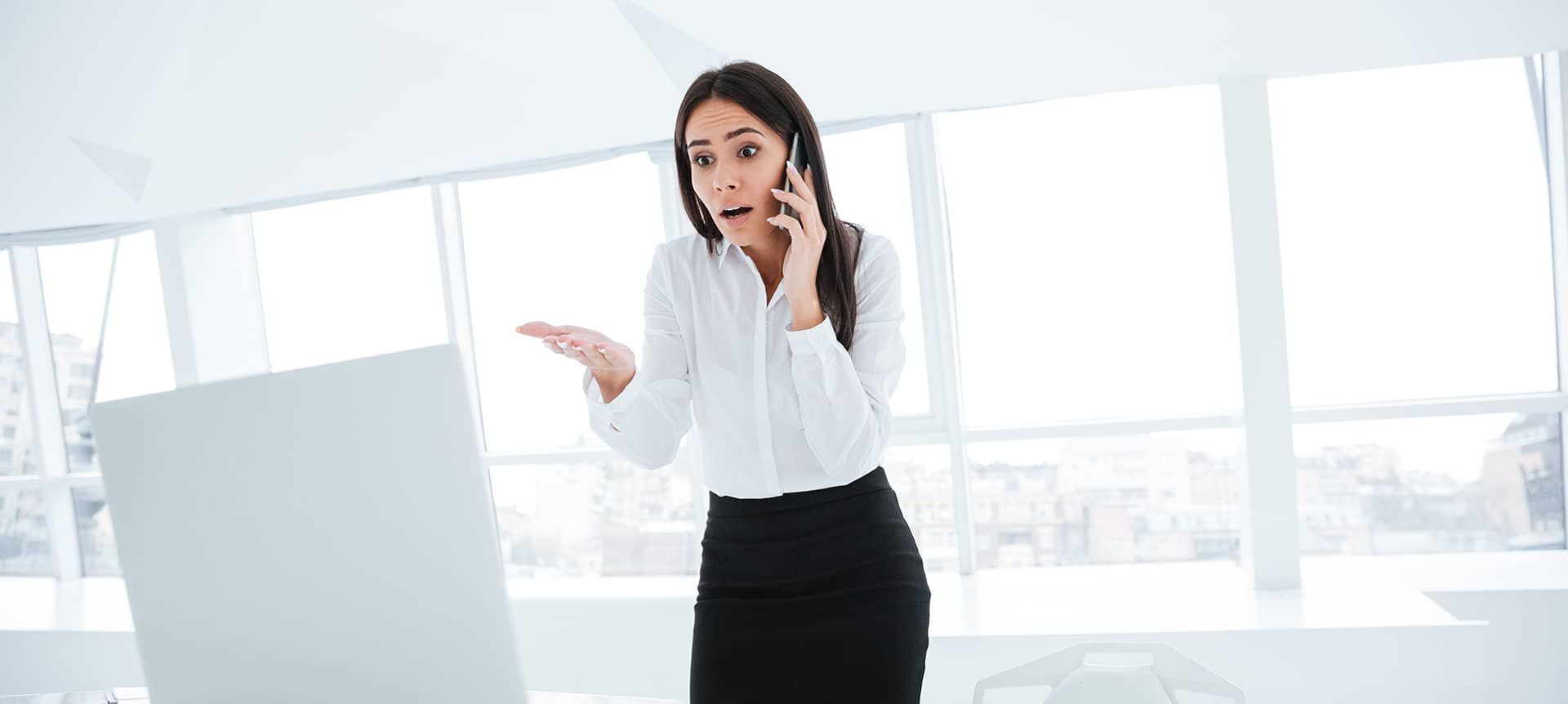 A talent acquisition specialist speaking on the phone