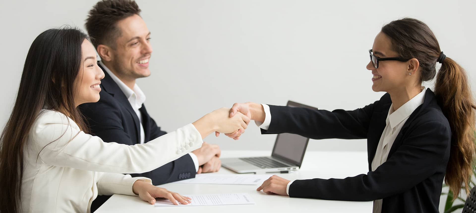 HR recruiters wearing professional suits