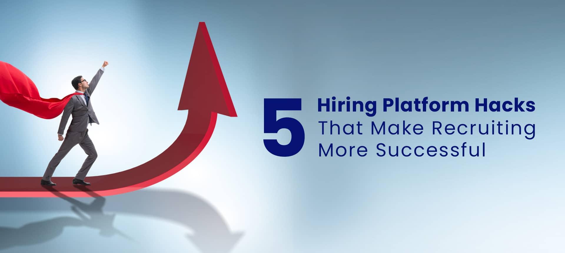 recruiter using a hiring platform