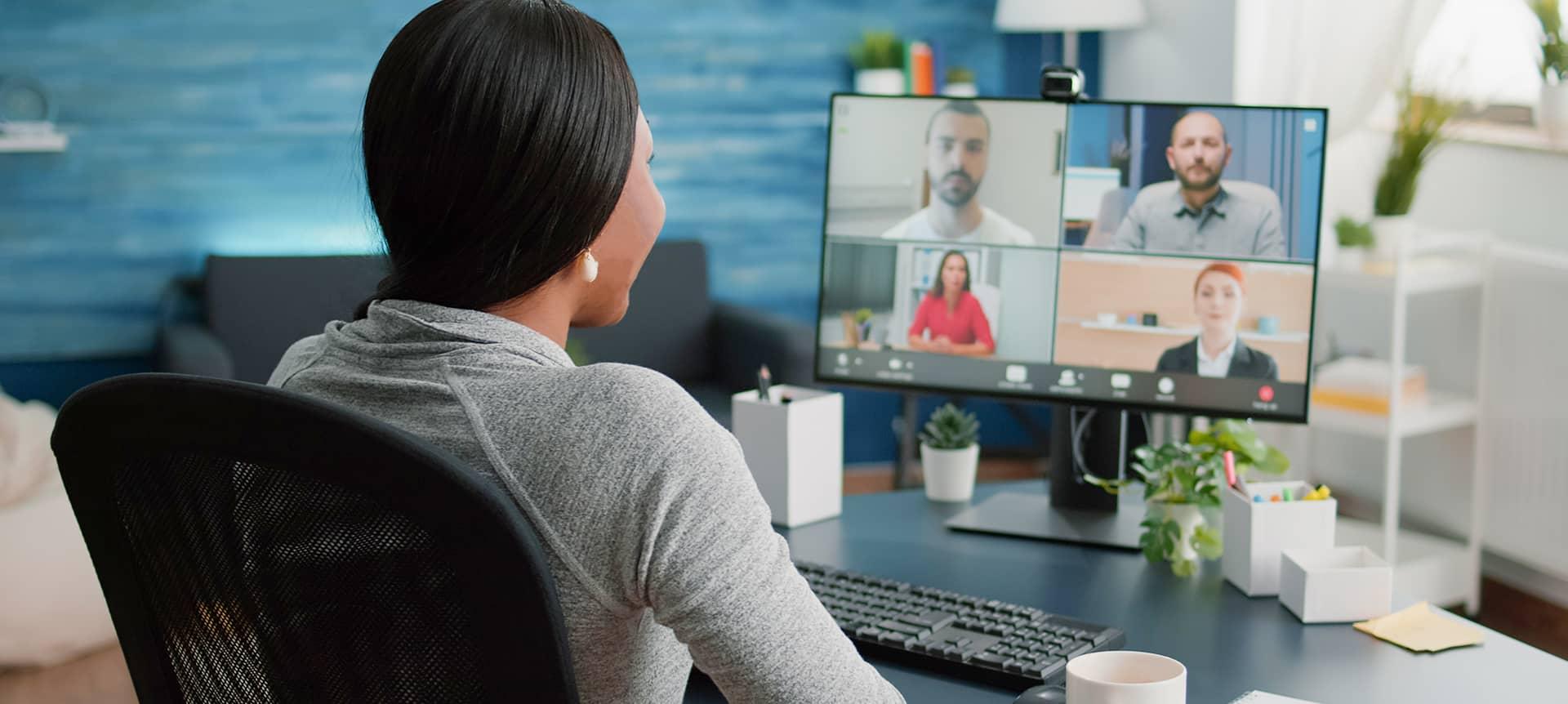 Recruiter conducting a video assessment interview