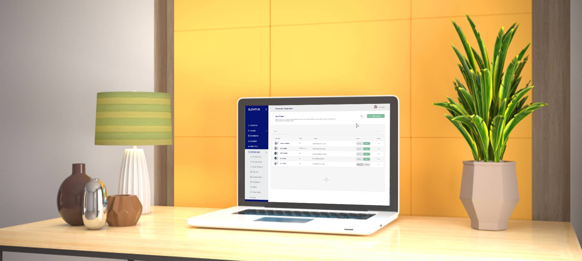 laptop showing remote talent acquisition software